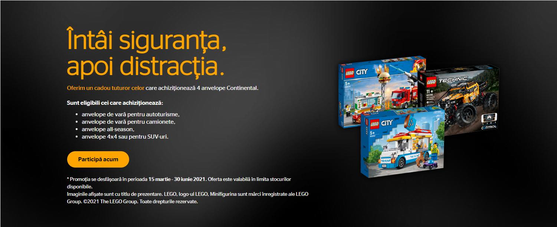 Promotie anvelope Continental Lego